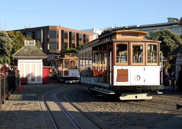 Cable Car Turnaround in San Francisco